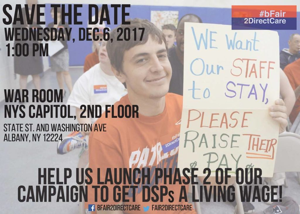 SAVE-THE-DATE: #bFair2DirectCare: SUPPORT OUR WORKERS!