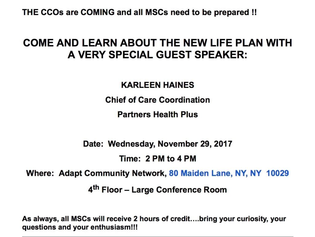 Partners Health Plus: PHP:Care Coordination Committee @ ADA | New York | New York | United States
