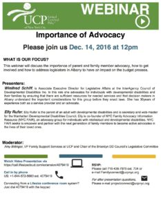 Importance of Advocacy - UCP NYC - Webinar